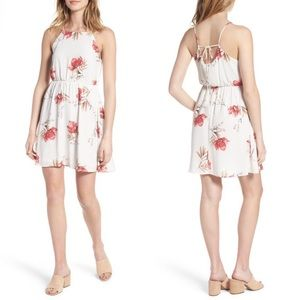 Lush Cream Rose Floral Dress Size Medium